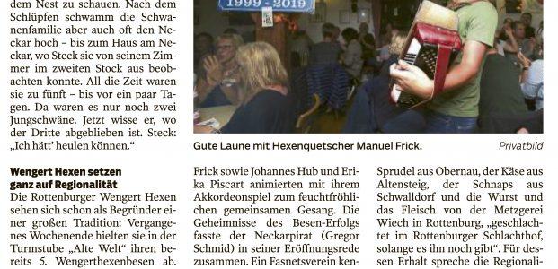 Schwäbisches Tagblatt vom 02.11.19